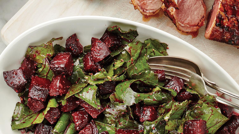Roasted Beets & Greens Salad