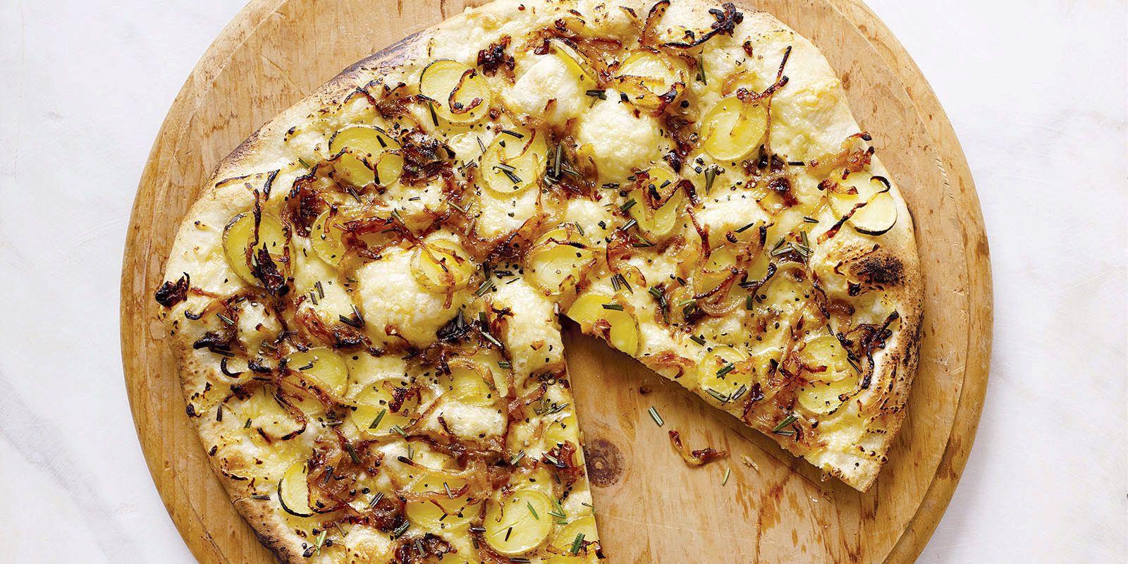 Potato, Caramelized Onion & Rosemary Pizza
