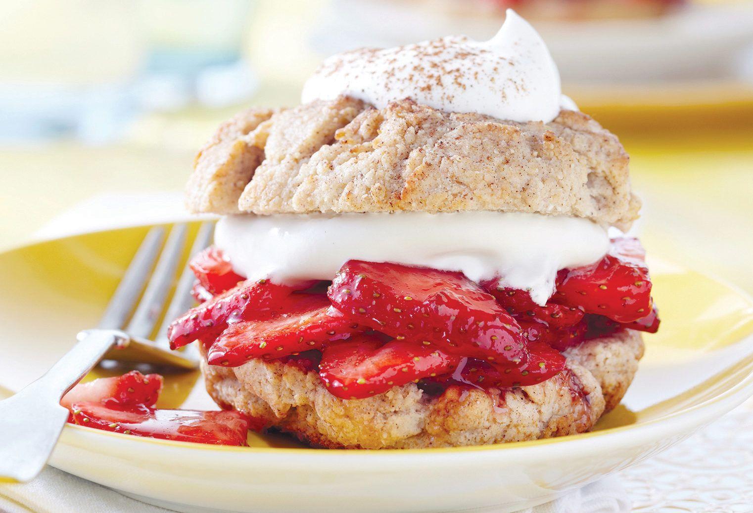 Strawberry Cinnamon Shortcakes